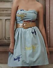 "Moulinette Souers 2 ""Wright"" Strapless Airplane Dress Seersucker Anthropologie"