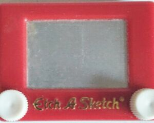 Etch A Sketch Drawing Toy Mini Key chain 1994 Basic Fun VINTAGE