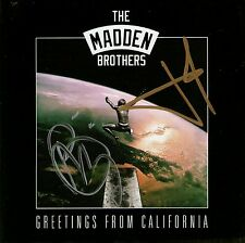 THE MADDEN BROTHERS Greetings From California SIGNED CD *New* Good Charlotte