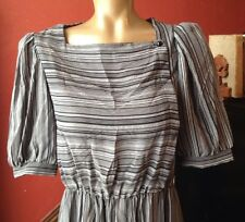 True Vintage Dress Dawn Joy Fashions Neo Mod Retro Boho Secretary Career Stripes