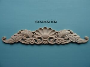 Decorative wooden leaf shell scoll center applique furniture moulding C154