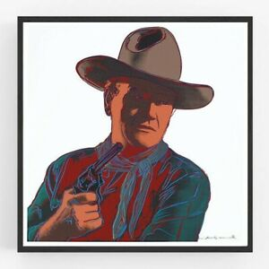 Andy Warhol John Wayne, Giclee Print, Poster Big Wall Art Cowboys various sizes