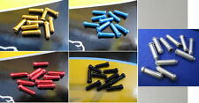 50 X  ALLOY ASSORTED COLOURED END CRIMPS FOR cycle BRAKE/GEAR CABLE