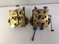 Antico orologio a pendolo meccanismo per parti di ricambio horologe