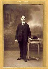 Carte Photo vintage card RPPC Homme 1921 mode fashion Raymond Deman ph051