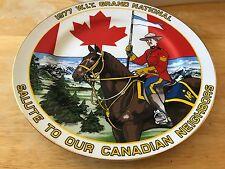 1977 W I T GRAND NATIONAL Souvenir Plate WINNEBAGO INDUSTRIES Canada Forest City