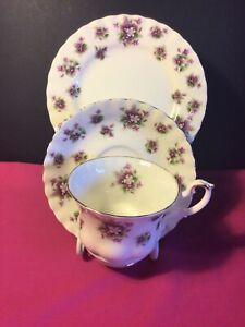 Royal Albert tea cup trio. Sweet Violets