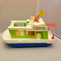 Fisher Price HAPPY HOUSEBOAT Boat 1972 Vintage Little People 985 Life Preserver