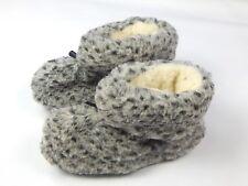 Natural Sheep Sheepskin Wool Warm Winter Women's Slippers Booties House Shoes