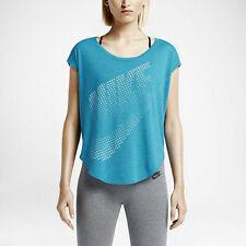 Womens Nike Burnout Loose fit Training Running Shirt Blue Size Medium 642772 413