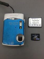 Blue Olympus Stylus 850 SW 8.0MP Digital Camera - Fast Shipping - A27