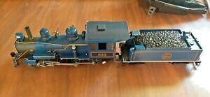 Bachmann G scale Blue Comet 833 Atlantic City Express locomotive & tender mint