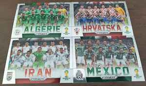 (4) Prizm World Cup 2014 Team Photos Lot Croatia, Mexico, Iran, Algeria