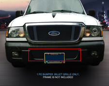Black Billet Grille Grill Lower Bumper Overlay For Ford Ranger 2004-2005