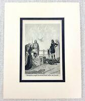 1909 Antico Stampa Frank C Pape Esecuzione Death Beheading Executioner Fantasia