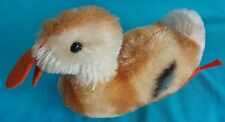 """Antique 4"""" Steiff Play Duck Mohair is Colorful & Clean - Excellent Condition"""