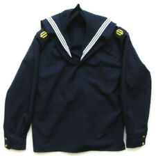 Original Russian Navy Sailor Uniform Seaman Blue Jacket with Collar & Epaulets