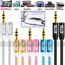 ®ETS 1M 3.5mm Jack Male To Female Extension AUX Audio Cable Mobile iPad MP3 Lead