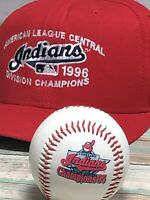 Cleveland Indians 1996 Division Champs Original New Era USA Hat + 1995 Baseball