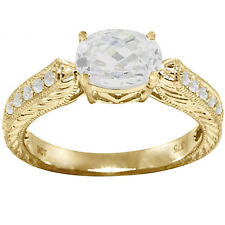 3.31ct Sparkling 9ct 9K Solid Gold Engagement Ring - 30 Day Returns