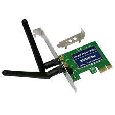 300M PCI Express Wireless WiFi Network Card Adapter 802.11b/g/n for Desktop PC