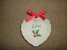 Lenox Love heart candy dish