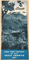 Vintage Antique 1957 Tennessee Smoky Mountains Visitors Guide Brochure