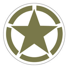 2 X ARMY STAR GREEN SELF ADHESIVE STICKERS SAFETY SIGNS