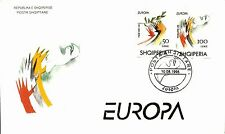 Albanian Stamps 1995. Europa CEPT: Peace & Liberty. FDC Set Mich. 2256-2257