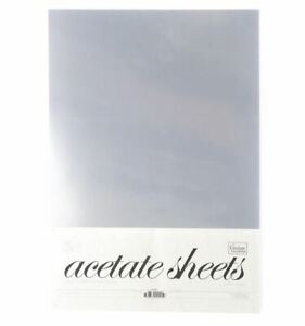 Couture Creations A4 0.25mm Thick Clear Cardstock Acetate 50 Sheets Transparent