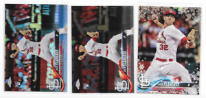 Jack Flaherty 2018 Topps RC Lot (3) - Chrome #4 Prism Refractor + Holiday HMW145