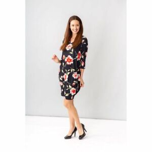 New Cordelia St floral tunic dress size 12 NWT 3/4 sleeve , soft and feminine