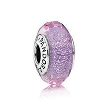 NEW! Authentic Pandora Purple Shimmer Murano Glass Bead #791651 $50