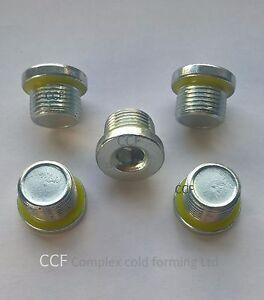M10 M12 M14 M16 M18 Sump Plug Oil Pan Bolt Bzp Rimlex Sealing Plug O Plugs New