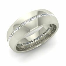 Men's Wedding Ring With Certified VS Diamond In Platinum -0.56 Cttw Free Engrave