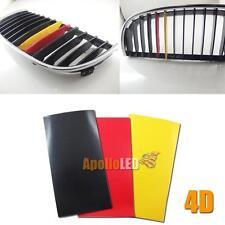 One Set 4D Carbon Fiber German Flag Color Stripe Decal Sticker fit BMW M3 M6 E46