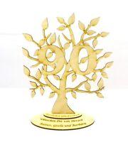 Jubiläums Baum zum 90 Geburtstag Personalisiert Holz, 28 cm,Geschenk, Lebensbaum