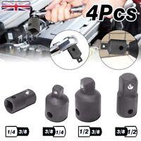 "4PCS 1/4"" to 3/8"" 1/2"" Drive Socket Adapter Converter Reducer Air Impact Set UK"
