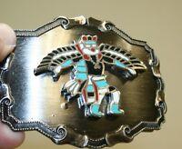 WOW Vintage Tribal Ritual Dancer South Western Bird Wings Metal Belt Buckle RARE