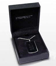 Christmas gift for him personalised engraved dog tag in gift box by Cellini #6