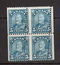 Canada #170i Mint Milky Blue Misperf Variety Block Of Four