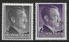 Poland stamps 1944 Warschau Revolt MI I+II signed Mokstein  MNH  VF