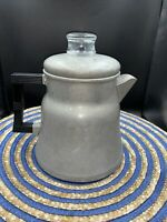 Vintage WEAR-EVER Aluminum STOVE TOP PERCOLATOR #3008 Camping Percolator 6 Cup