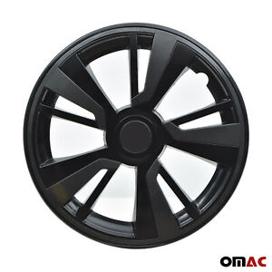 15'' Hubcaps Wheel Rim Cover Black with Dark Grey Insert 4pcs Set For Honda