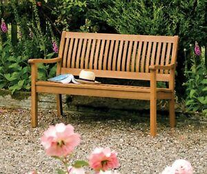 Willington Hardwood Garden Bench  1.2m 4ft Brown