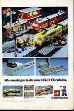 Lego--Alles umsteigen in die neue Lego Eisenbahn--Station --Werbung von 1981-neu