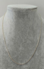 "Estate Jewelry Chain Link .925 Sterling Silver Necklace 20"" 1.6mm"