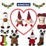 Ancol Christmas Dog Toys Xmas Stocking Filler Squeak Plush Crinkly Santa Rudolph