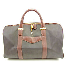 Dunhill Boston bag Grey Brown Woman unisex Authentic Used Y6693
