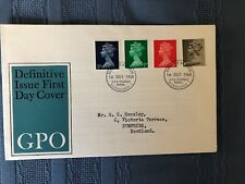 Great Britain Machin Fdc. 5D-10D. 1968 Issues.